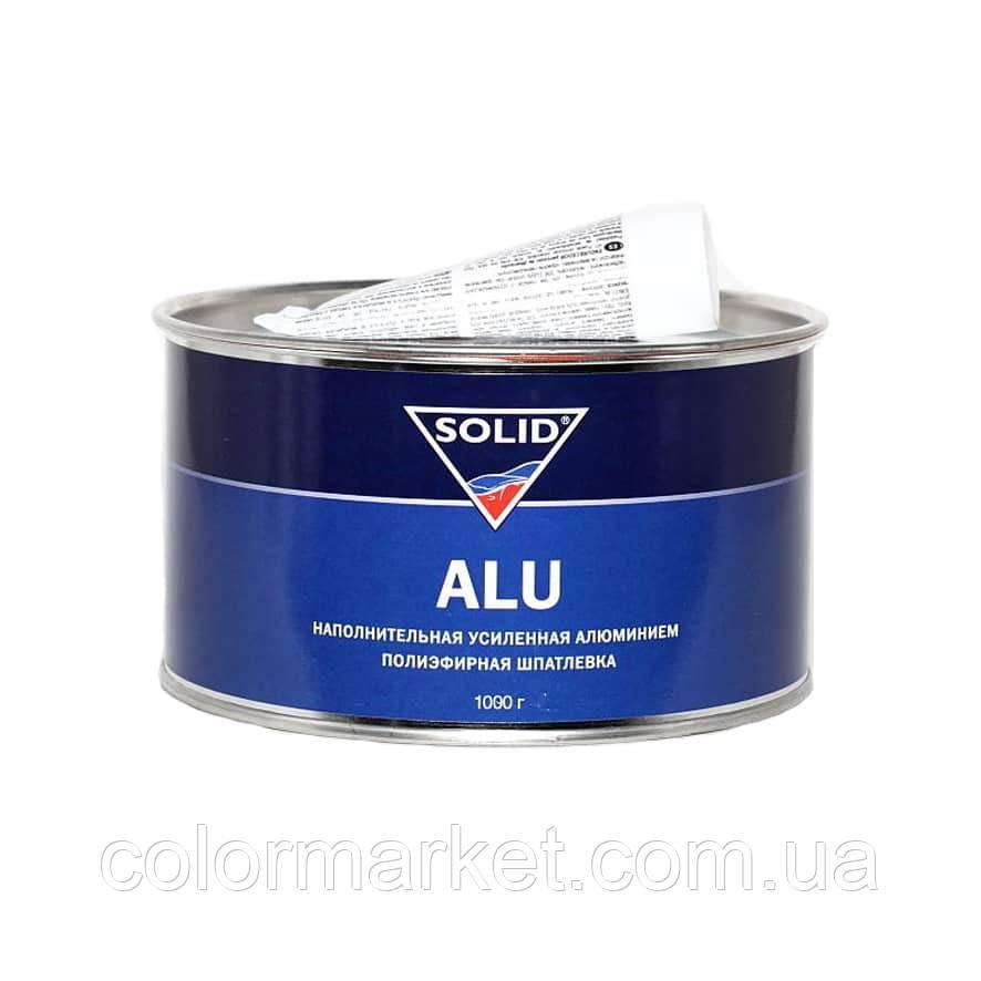 Поліефірна шпаклівка Alu (1 кг) з затверджувачем, SOLID
