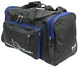 Сумка для тренировок Wallaby 270-2 черный с синим, 23 л, фото 5