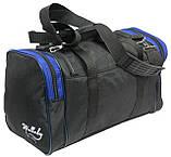 Сумка для тренировок Wallaby 270-2 черный с синим, 23 л, фото 7