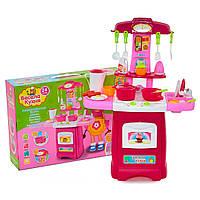 """Детская игрушечная кухня с водой """"Весела Кухня"""" 24 аксессуара   детский игрушечный игровой набор"""