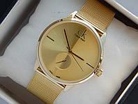 Мужские (Женские) кварцевые наручные часы Calvin Klein на металлическом ремешке, фото 1
