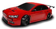 Машинка на радиоуправлении шоссейная с кузовом Team Mitsubishi красная (машинки на пульте управления)
