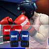 Боксерские перчатки PowerPlay 3015 синие [натуральная кожа] 16 унций, фото 9