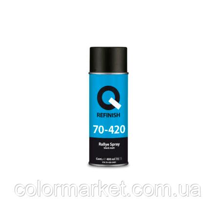 70-420-0401 Фарба чорна матова RALLYE SPRAY (400 мл), аерозоль, Q REFINISH