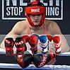 Боксерські рукавиці PowerPlay 3023 A Синьо-Білі (натуральна шкіра) 16 унцій, фото 10