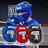 Боксерський шолом тренувальний PowerPlay 3068 PU + Amara Чорно-Зелений M, фото 10