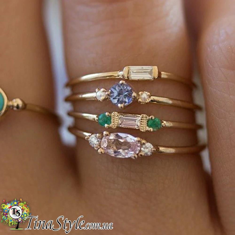 Набор колец кольца 3 шт регулируемые комплект костяшки на кончик пальца 2 цвета Супер цена! ХИТ!