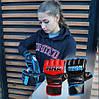 Рукавички для MMA PowerPlay 3055 Червоно-Чорні M, фото 8