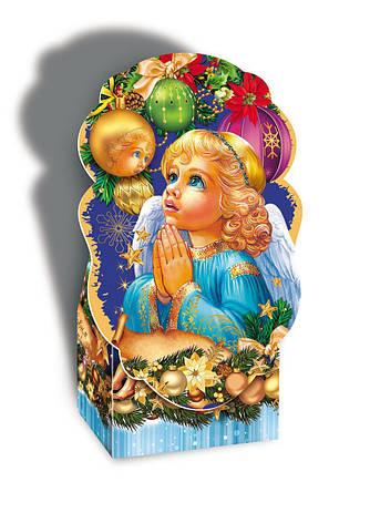 Картонная новогодняя упаковка Ангел, на вес до 800г, мелкий опт, фото 2