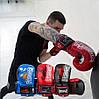 Боксерские перчатки PowerPlay 3007 красные карбон 12 унций, фото 10