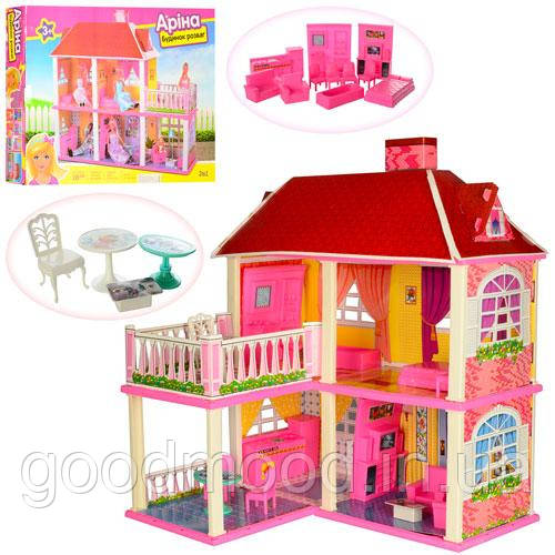 Будиночок 6980 для ляльки, 2в1, 2 поверхи, 5 кімнат, меблі, кор., 63-48-9,5 см.