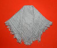Хустина ручної в'язки павутинка з козиного пуху, фото 1