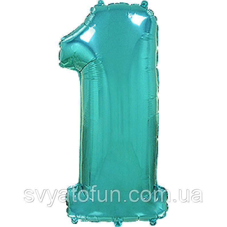 Фольгированный шар-цифра 1 тиффани Flexmetal