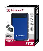 "Жорсткий диск Transcend StoreJet 2.5"" USB 3.1 1TB StoreJet 25H3 Blue"