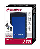 "Жорсткий диск Transcend StoreJet 2.5"" USB 3.1 2TB StoreJet 25H3 Blue"