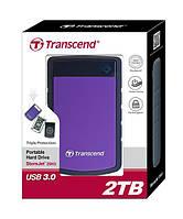 "Жорсткий диск Transcend StoreJet 2.5"" USB 3.1 2TB StoreJet 25H3 Purple"