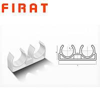 Крепление для труб PPR двойное Firat, 20 мм