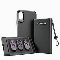 Чехол набор объективов для Iphone XS Max Apexel IPX-MWFT06