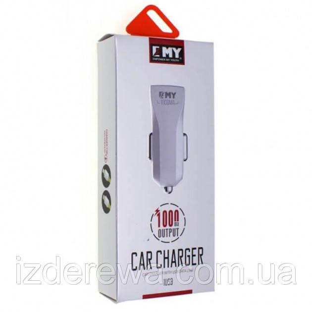 Автомобильное зарядное устройство MY 110 + Lightning 1A / 1 USB О.