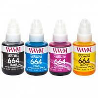 Комплект чернил WWM 664 для Epson L110/L210/L300 4х140г B/C/M/Y (E664SET4)