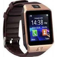 Смарт часы DZ09 Золотые Original Smart Watch Смарт часи DZ09