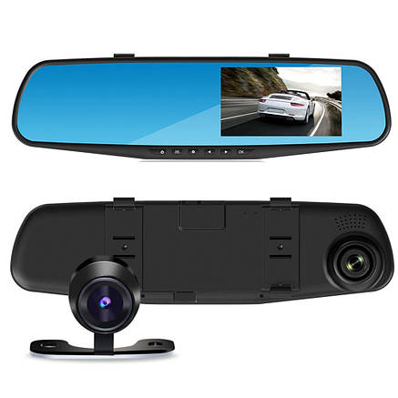 Зеркало заднего вида с видеорегистратором DVR T605 1080p HD, видеорегистратор с камерой заднего вида, фото 2
