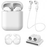 Чехол силиконовый XO для Apple Airpods 4в1 (белый)