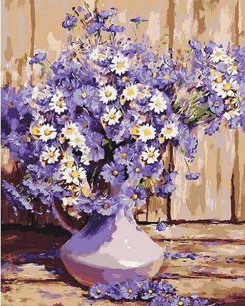 КНО3020 Раскраска по номерам Букет полевых цветов, Без коробки, фото 2