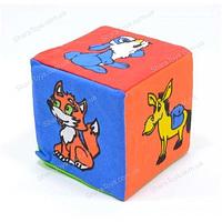 """Кубик-погремушка мягкий """"Животные"""""""
