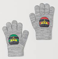 Перчатки H&M для хлопчика 0694779001 104 см (3-4 years) сірий  60211