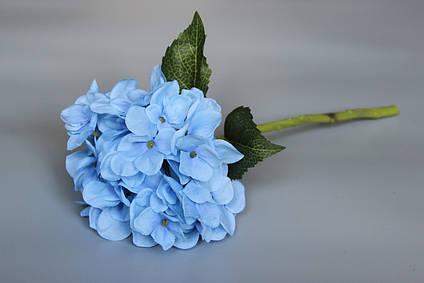 Искусственный цветок Гортензия, 35 см, голубой (630232)
