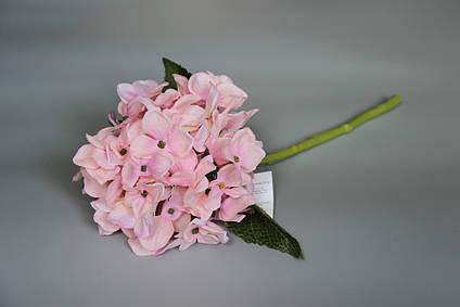 Искусственный цветок Гортензия, 35 см, розовый(630218)