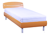 Кровать Кенди 800х2000, ножки алюм цилиндр