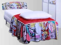Кровать Кенди принт 1600х2000, ножки буковые лепесток