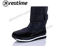 """Дутики мужские """"Restime"""" YMZ19554 black (41-46) - купить оптом на 7км в одессе"""