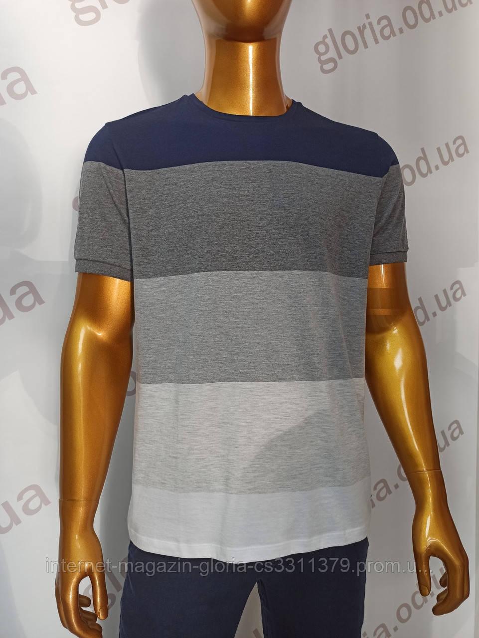Мужская футболка MCL. Mod.35217(полоска). Размеры: M,L,XL,XXL.