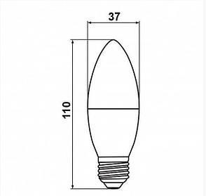 Светодиодная лампа Biom BT-588 C37 9W E27 4500К матовая, фото 2