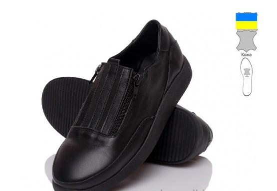 Туфли кожаные женские черные Prime-Opt-IT-Style-5048-SI