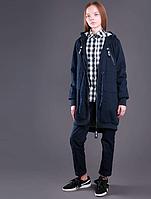 Куртка парку для дівчинки тм Моне (синя і чорна) р-ри 122,128,134,140,146,152,158,164, фото 1