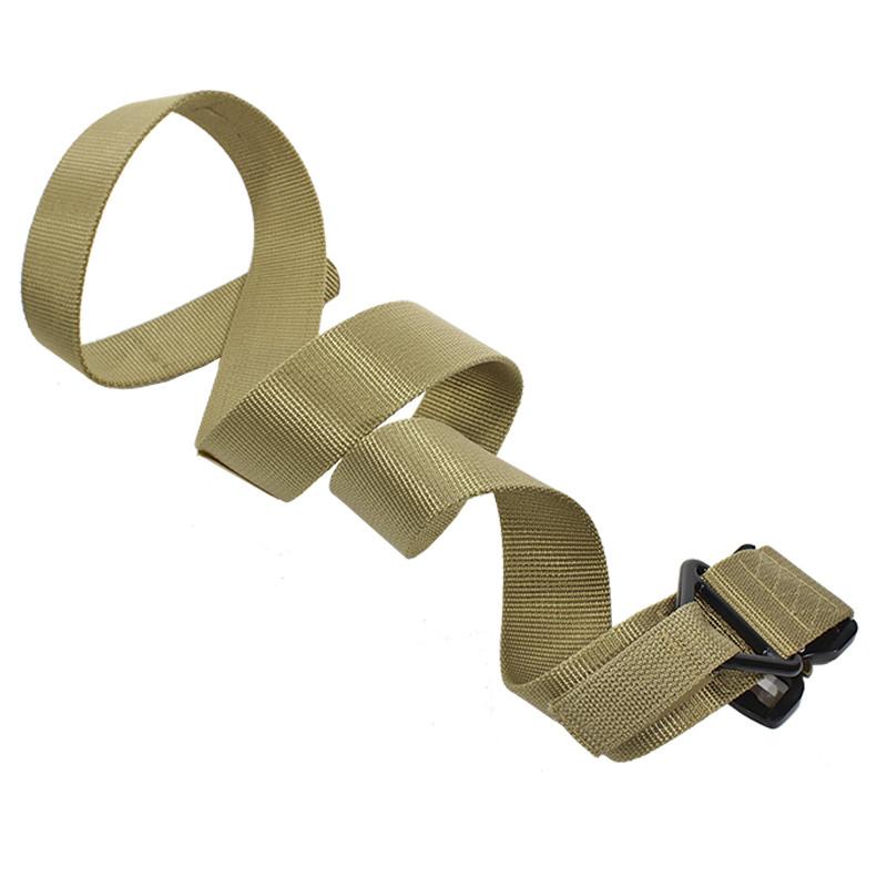 Ремень тактический Han-Wild Latch Khaki нейлоновый прочный брючные с металлической пряжкой армейский