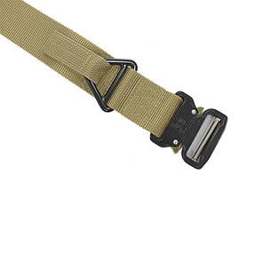 Ремень тактический Han-Wild Latch Khaki нейлоновый прочный брючные с металлической пряжкой армейский, фото 2