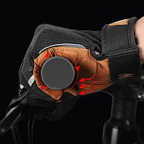 Перчатки велосипедные спортивные West Biking 0211197 L Brown с пальцами и откликом на сенсор, фото 2