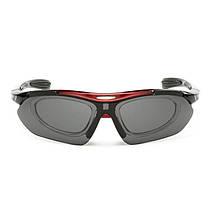 Солнцезащитные поляризационные очки Han-Wild 9303 Red для вело спорта и водителей антибликовые, фото 3
