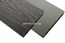 Доска пустотелая из ДПК  HOLZDORF для высоких грядок и заборов 160х19x3000 мм Класик/Браш графит