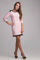 Модное женское платье из хлопка с люрексовой ниткой