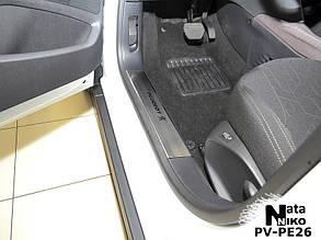 Накладки на пороги Peugeot 208 (на пластик)