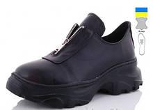 Туфли кожаные женские черные Mermaid-200-1