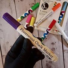 Флуоресцентные маркеры набор POPMAK 5 мм 8 цветов (реальные фото), фото 2