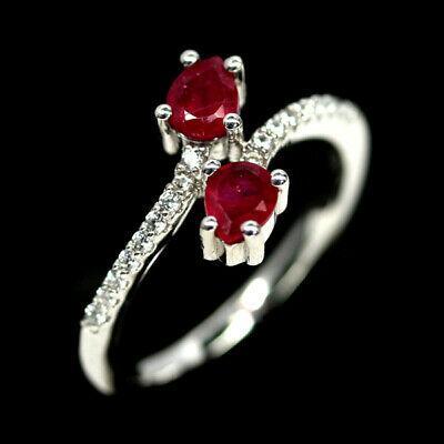Серебряное кольцо с рубином, 2390КЦР