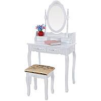 Стол косметический с зеркалом и стулом Glamour Bonro B002W, фото 1